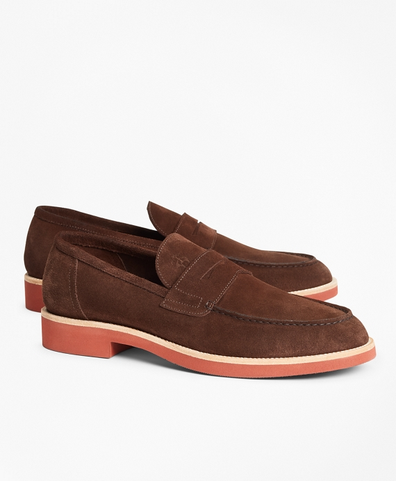 Suede Penny Loafer Brown