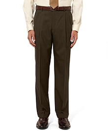Madison Fit Pleat-Front Tic Trousers