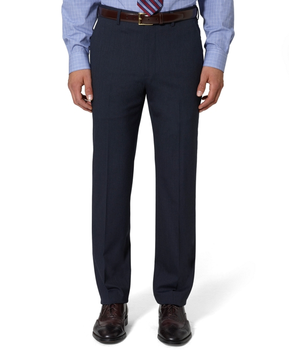 Fitzgerald Fit Plain-Front Tic Trousers Blue