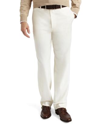Madison Fit Plain-Front Classic Gabardine Trousers