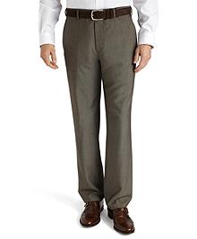 Plain-Front Mohair Dress Trousers