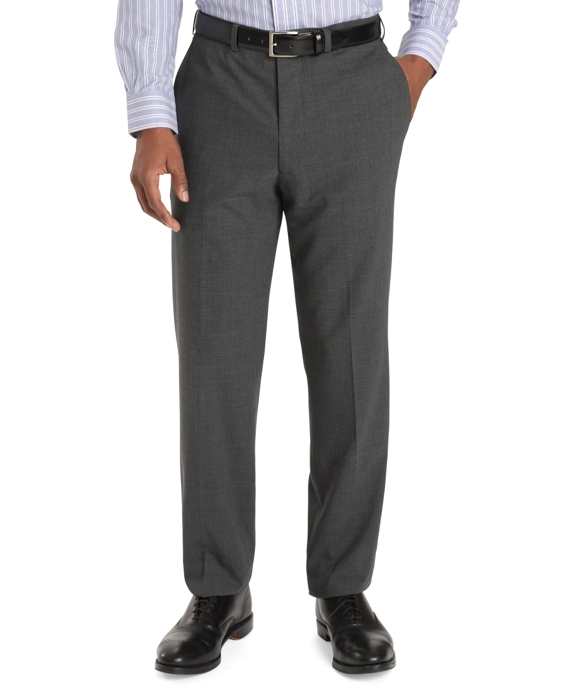 Regent Fit Plain-Front BrooksCool® Trousers Grey