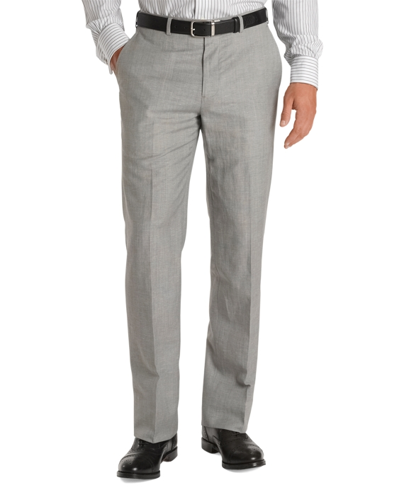 Fitzgerald Fit Linen Trousers Light Grey