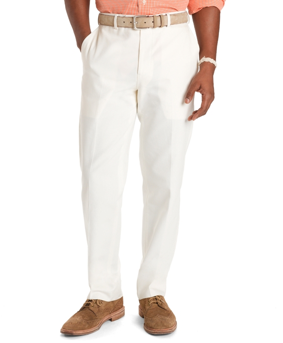 Fitzgerald Fit Canvas Trousers Ivory