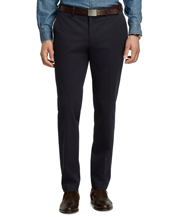 Milano Fit Cotton Twill Pants Navy