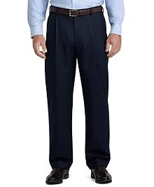 Madison Fit Mini Tattersall Pleated Trousers