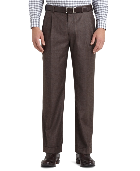 Madison Fit Double-Reverse Trousers Brown