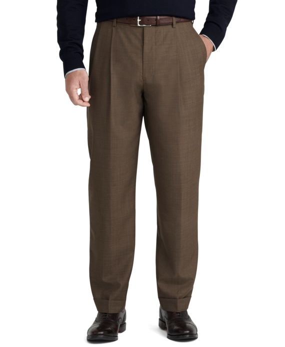 Madison Fit Tic Weave Trousers Brown