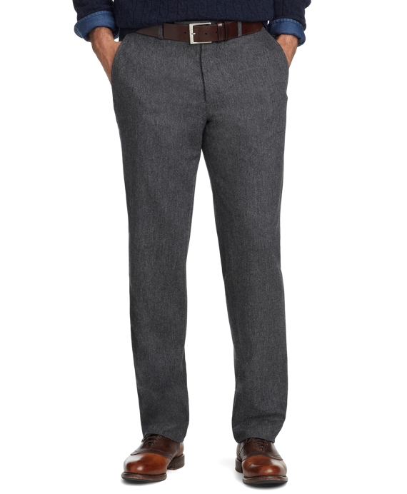 Fitzgerald Fit Plain-Front Donegal Tweed Trousers Grey