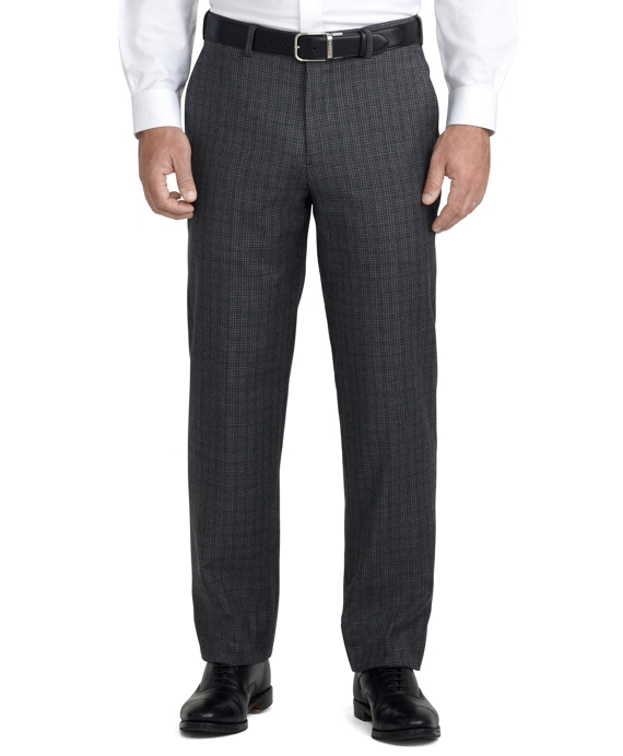 Fitzgerald Fit Plain-Front Trousers Grey