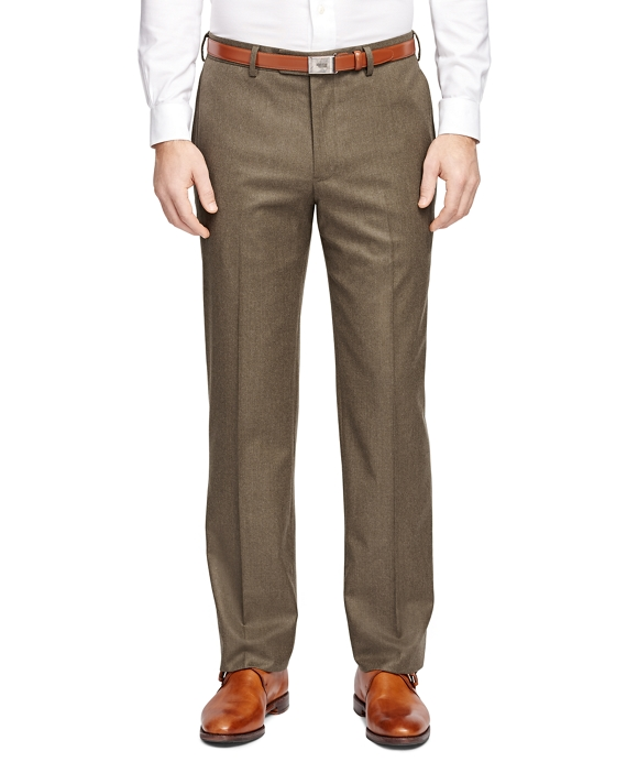 Fitzgerald Fit Plain-Front Flannel Trousers Birch