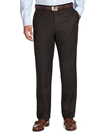 Fitzgerald Fit Plain-Front Flannel Trousers