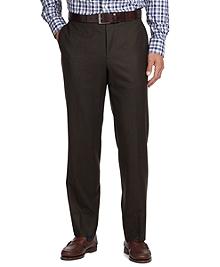 Fitzgerald Fit Plain-Front Flannel Dress Trousers