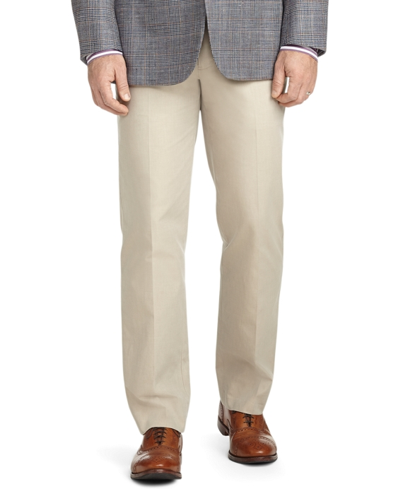 Fitzgerald Fit Plain-Front Cotton Dress Chinos Tan