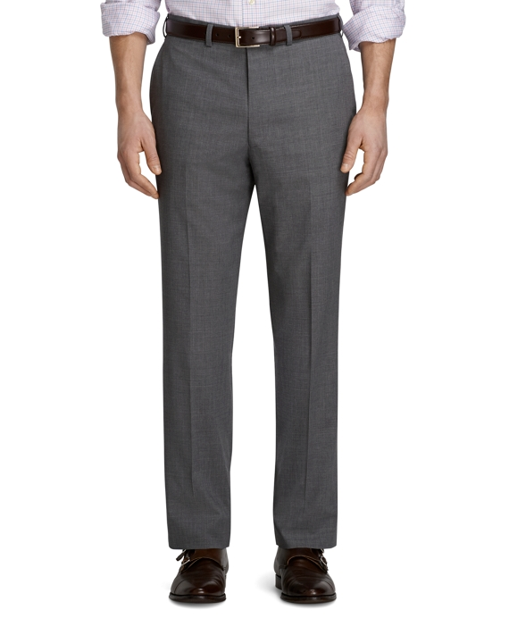 Fitzgerald Fit Plain-Front Solid BrooksCool® Dress Trousers Grey
