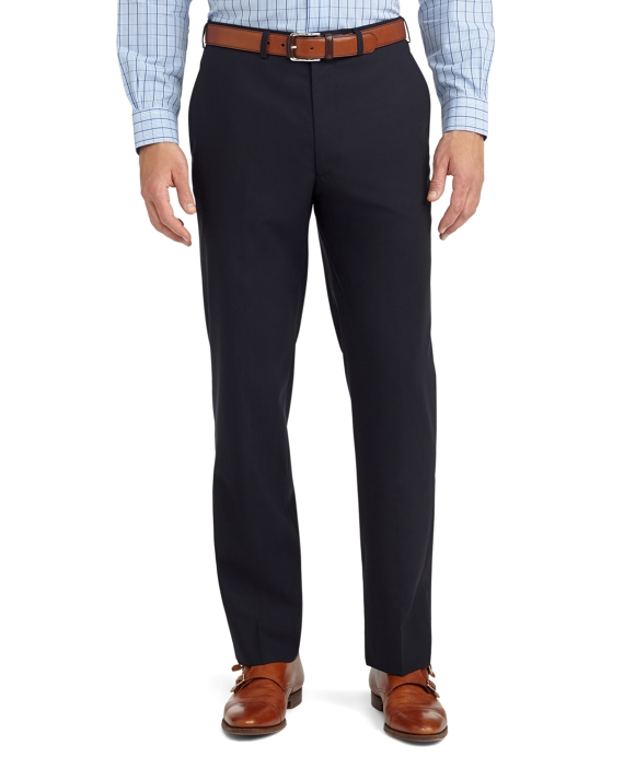 Fitzgerald Fit Plain-Front Solid BrooksCool® Dress Trousers Navy