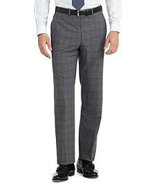 Fitzgerald Fit Plain-Front Plaid BrooksCool® Dress Trousers