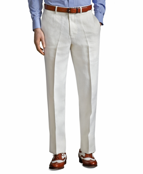 The Great Gatsby Collection Ivory Linen Pants Ivory