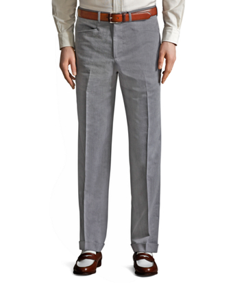The Great Gatsby Collection Grey Cotton Twill Trousers