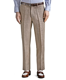 The Great Gatsby Collection Light Brown Linen Trousers