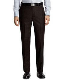 Fitzgerald Fit Houndstooth Plain-Front Dress Trousers