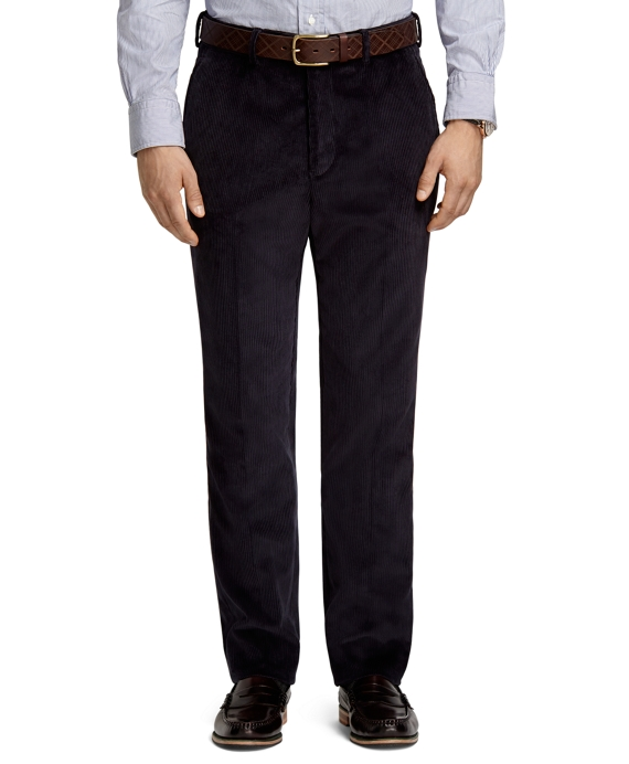 Own Make Navy Corduroy Dress Trousers Navy