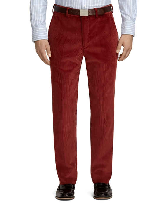 Own Make Rust Corduroy Dress Trousers Rust