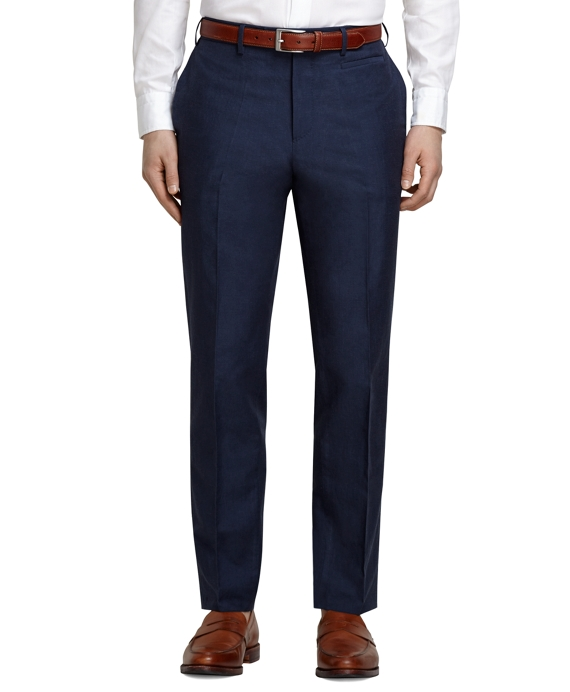 Navy Linen and Cotton Dress Trousers Navy