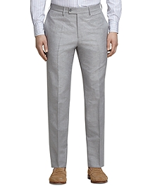 Grey Linen and Cotton Dress Trousers
