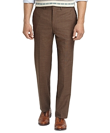 Fitzgerald Fit Plain-Front BrooksCool® Tic Dress Trousers