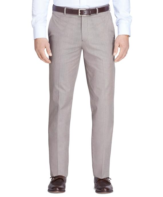 Fitzgerald Fit Plain-Front Tic Dress Trousers Tan