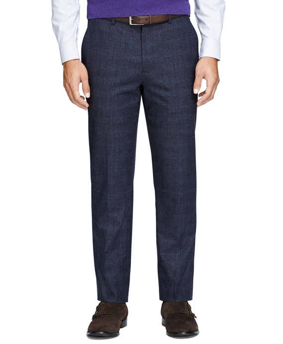 Fitzgerald Fit Tonal Plaid Trousers Blue