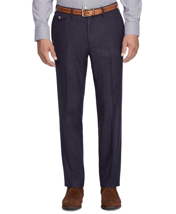 Regent Fit Wool Trousers Dark Grey