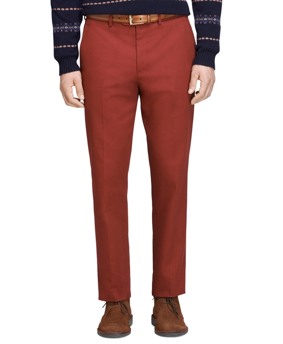 Own Make Cavalry Twill Dress Trousers Dark Red