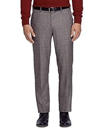 Fitzgerald Fit Saxxon Wool Plaid Dress Trousers
