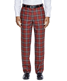 Milano Fit Tartan Dress Trousers