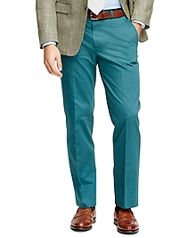 Fitzgerald Fit Plain-Front  Cotton Dress Trousers