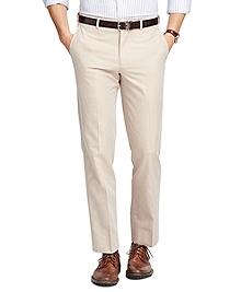 Fitzgerald Fit Plain-Front  Cotton Dress Trousers