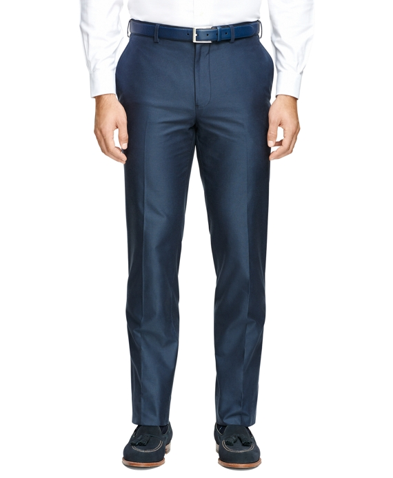 Fitzgerald Fit Plain-Front  Dress Trousers Navy