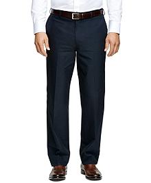 Madison Fit Plain-Front Dress Trousers