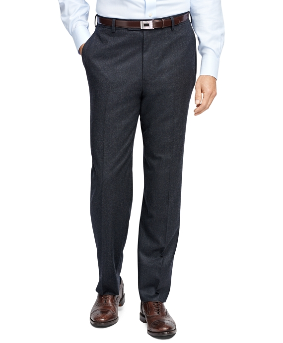 Madison Fit Flannel Trousers Charcoal