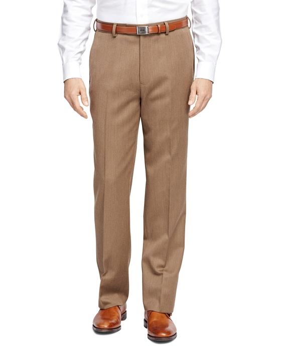 Madison Wool Twill Trousers Tan