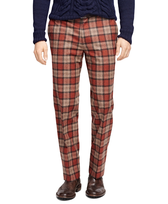 Fitzgerald Fit Tartan Trousers Red