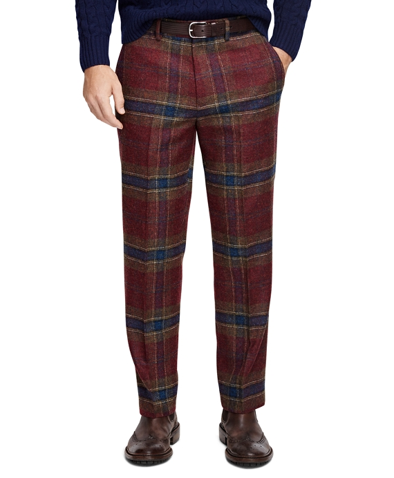 Own Make Plaid Trousers Burgundy
