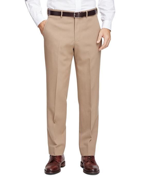 Men's Own Make Khaki Wool Twill Trousers | Brooks Brothers