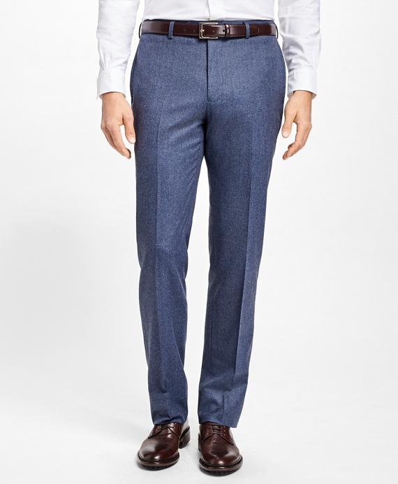 Regent Fit Stretch Flannel Trousers Blue