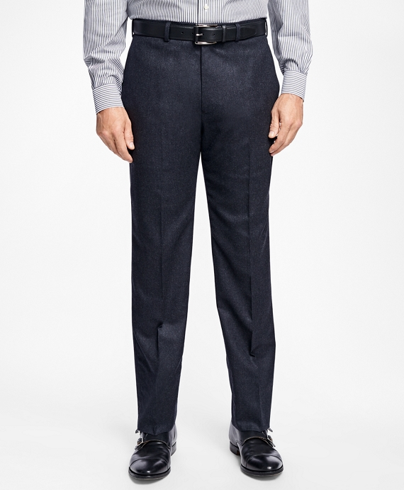 Madison Fit Stretch Flannel Trousers Charcoal