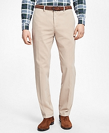 Regent Fit Garment-Dyed Trousers