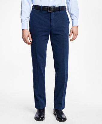 Regent Fit Garment-Dyed Trousers