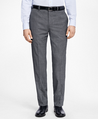 Regent Fit Mini Houndstooth Trousers
